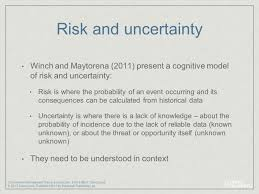 commercial risk model chapter 4 perspectives on managing risk and uncertainty management