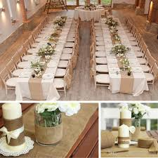 Wedding Home Decoration Vintage Burlap Jute Table Runner Hessian Roll For Wedding Party