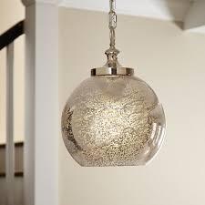 Green Glass Pendant Light Mercury Glass Pendants Youll Love Wayfair Inside Mercury Glass
