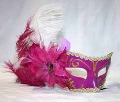 pink mardi gras mask pink white ostrich feather mardi gras mask let s party
