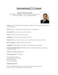 Samples Of Cv Us Format Resume Resume Cv Cover Letter