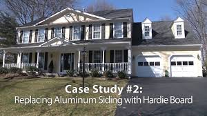 Hardie Board by Replacing Aluminum Siding With Hardie Board Youtube