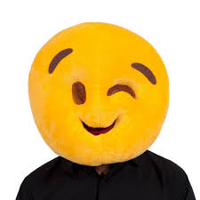 emoji mask plush emoji emoticon mascot fancy dress