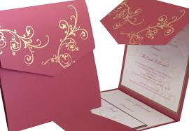 invitation designs wedding invitation design ideas gold floral pattern pocket