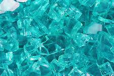 Fire Pit Crystals by Caribbean Blue Metallic Azuria Reflective Fireglass Fireplace