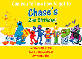 2 stunning top 10 collection sesame street birthday invitations