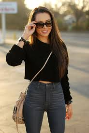 sweater with how to style cropped sweaters glam radar