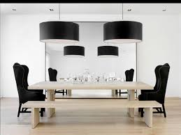 wingback dining chair in dining room modern with white wood floors