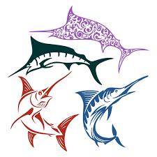 marlin fish cuttable design