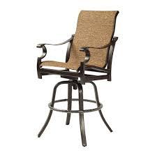 High Back Sling Patio Chairs Castelle Monterey Sling High Back Swivel Bar Stool