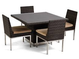 Square Glass Dining Table Caluco Mirabella Wicker 48 Square Glass Dining Table 606 4848