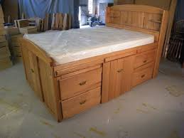 innovative king size bed frame with drawers plans and how to build
