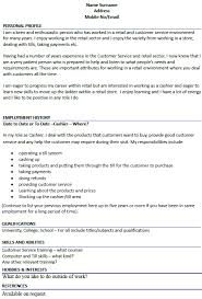 Job Description For Cashier For Resume by Cashier Cv Example Icover Org Uk