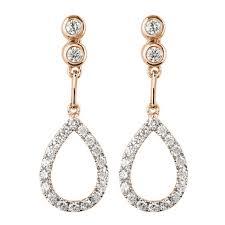 diamond earrings design mazal diamond 0 42ct f i1 diamond earrings with teardrop shaped