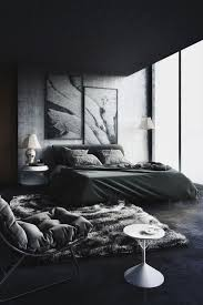 Black White Interior by Marvelous Black Wall And White Bed Interior Design Black And