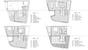 floor plans terrace split level house in philadelphia by qb design