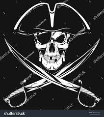 pirate skull stock vector 268377245 shutterstock