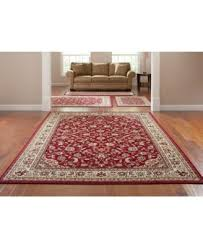 Kenneth Mink Area Rugs Kenneth Mink Area Rug Set Florence Collection 4 Pc Set Kashan Red
