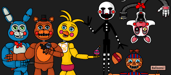 painting fnaf fnaf 2 new painting style by me by mangle and endos on deviantart