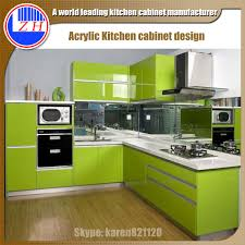 Breathtaking Small Kitchen Cabinet Design With High Gloss Acrylic - High gloss kitchen cabinet doors