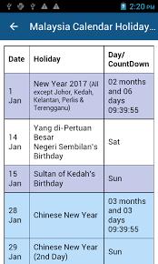 Kalender 2018 Hari Raya Puasa Malaysia Calendar 2017 Android Apps On Play