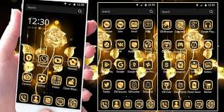 Gold Rose App Gold Rose Theme Luxury Gold Apk For Windows Phone Android
