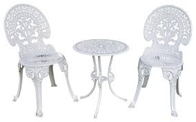 Black Metal Bistro Chairs Angel White Garden Bistro Set Table And Two Chairs For Yard 3