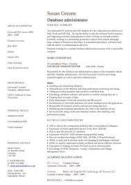 dba resume sample database administrator resume example dba