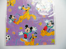 mickey wrapping paper vintage hallmark gift wrap disneys mickey mouse pluto wrapping