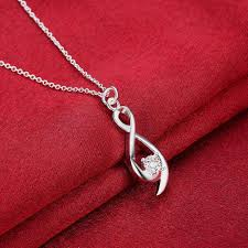 women necklace accessories images Wholesale 2017 new silver necklaces pendant crystal twisted 8 jpg