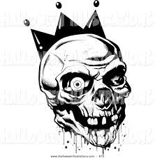 scary halloween clipart black and white collection