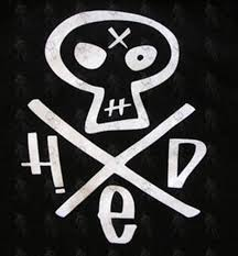 hed pe black skull cross logo design t shirt clothing mens