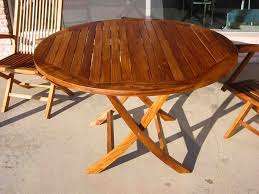 Foldable Patio Furniture Round Wood Patio Table Dining Table