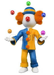 clowns juggling balls clown juggling with colorful balls stock photo picture and