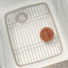 Kitchen Sink Protector Grid Amazon Com Interdesign Axis Kitchen Sink Protector Grid Satin