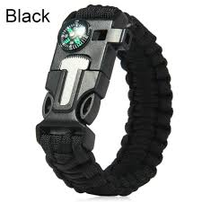 survival bracelet with whistle buckle images Fashion survival bracelet flint fire starter gear escape whistle jpg