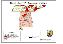 Tennessee County Maps by Dale Hollow National Fish Hatchery
