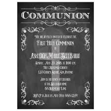 holy communion invitations holy communion invitation chalkboard flourishes scrolls