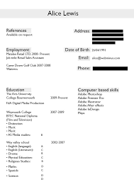 Resume For Part Time Job by Cv Alice U0027s Blog