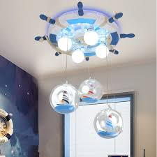 baby boy nursery ceiling lighting and papering ideas for kids room