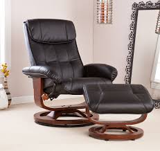 holly u0026 martin bryce euro style recliner and ottoman in black