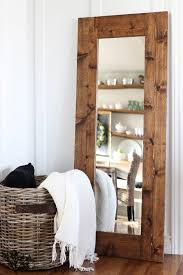 How To Frame A Wall by Diy Wood Framed Mirror The Wood Grain Cottage