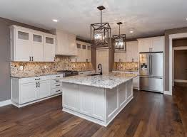 classic white wood kitchen cabinet white and grey marble floor
