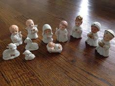 home interior nativity vintage 9 pc set homco porcelain nativity set 5603 in box