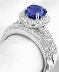 tanzanite wedding rings tanzanite halo engagement ring with matching