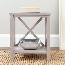 What To Put On End Tables In Living Room by Safavieh Candence Gray End Table Amh6523c The Home Depot