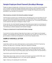 farewell letter sample the best letter sample