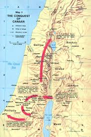 Map Of Israel And Middle East by Canaan Map Israel During The Time Of Joshua