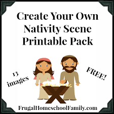 free create nativity scene pack frugal homeschool