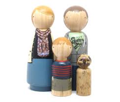 wooden peg doll family u2014 crafthubs